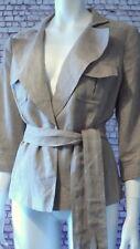 Linen jacket light brown Principles 16 wood buttons