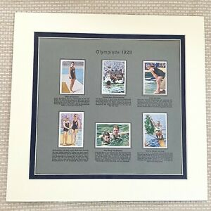 1928 Olympic Games German Cigarette Cards Swimming Rowing Water Polo Sports