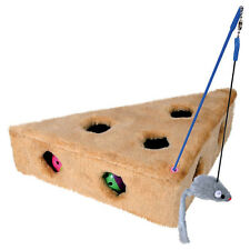 Trixie CATS CHEESE with Play Fishing & 3 Game Balls, NEW