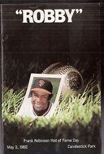 "Original 1982 San Francisco Giants ""Robby"" Photo Album SGA Frank Robinson HOF"