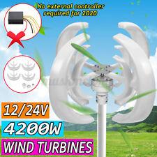 4200W 12/24V 4 Blades Rotor Lantern Wind Turbines Generator Unit Vertical Axis