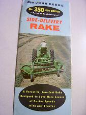 Vintage John Deere Advertising Brochure- # 350 Pto Hay Rake- 1956