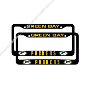 Green Bay Packers 2PCS Chrome License Plate Frame Set Auto Truck Car Tag Cover