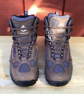 Vasque Mens Breeze Gore Tex 7466 Brown Leather Hiking Boots Lace Up Size 10M