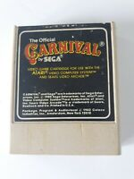 Atari 2600 The Official Carnival By Sega 1982 Coleco Inc Cartridge Only