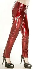 NEW NWT Lip Service Red Vinyl PVC Goth Fetish Club Wear Skinny Slim Pants S