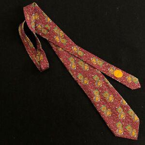CHRISTIAN DIOR Monsieur silk tie Pegasus & Shield print made in Italy