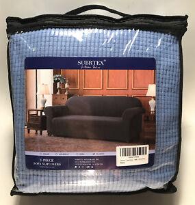 """Subrtex 1-Piece Stretch XL Sofa Slipcover Cover Textured, Denim Blue (95-118"""")"""