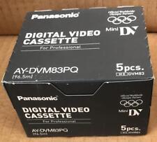 Panasonic AY-DVM63PQ MiniDV Cassette Professional Mini DV Tape pack 5X Cassette