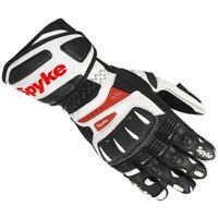 Guantes moto Spyke Robotic Racing guante de cuero blanco para hombre