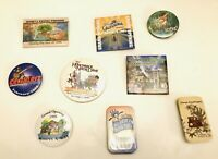Vtg Disney Lot Of 9 Grand Opening Button Pins Animal Kingdom Tomorrowland Tarzan