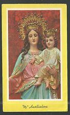estampa antigua de la Virgen Maria Auxiliadora  santino holy card image pieuse