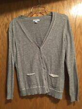 New York & Company Womens Cardigan Large Silver