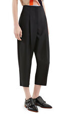 BNWT ACNE STUDIOS 'murol raw' black cropped wool cashmere trousers pants 36