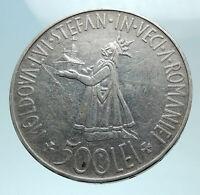 1941 ROMANIA Michael I Romanian Lady & Bird Antique Genuine Silver Coin i78786