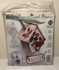 NeedleMagic Make Your Own Miniature Birdhouse Christmas Ornament Noel Vintage