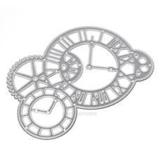 Metal Clock Cutting Dies Stencils DIY Scrapbooking Paper Card Hand Craft hv2n