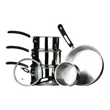 Tenzo S II Series 5pc Cookware Set Stainless Steel For Home Cooking Kitchen Food