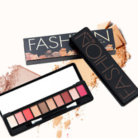 Makeup Matte Smoky Eye Shadow Powder Cream Eyeshadow Cosmetic Brush Palette Set