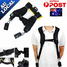 Double Dual Shoulder Belt Harness Holder Camera Neck Strap SLR DSLR Adjustable