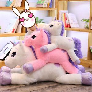 60/110cm Pink/White Pets Unicorn Giant Soft Toy Plush Stuffed Teddy Xmas Gift K1