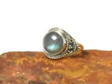LABRADORITE   Sterling  Silver  925  Gemstone  RING  -  Size  R  -  Gift  Boxed!