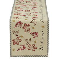"Rustic Welcome Family & Friends GATHER TOGETHER 14"" x 72"" Cotton Table Runner"
