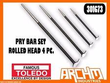 TOLEDO 301673 - PRY BAR SET - ROLLED HEAD 4 PC - HOOK PODGER 150/300/400/500MM