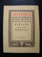 Partition Sonate C Moll Vivaldi Hautbois Violon  Music Sheet