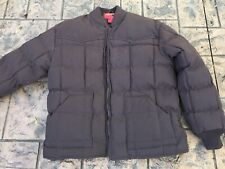 Rodeo Clothing Co Men's Down Coat Jacket Dark Brown Sz M Excellent