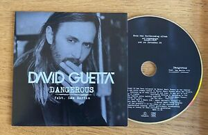 David Guetta (Feat. Sam Martin) - Dangerous Promo CD Single (2014) Rare