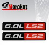 2x Saab 9-7x Aero Pontiac GTO 6.0L LS2 Emblem Decal Sticker Fender Car Black Red
