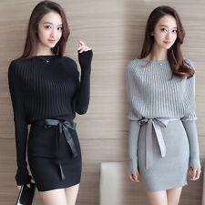 new Autumn winter Korean fashion sexy shitsuke Package buttocks knitting dress