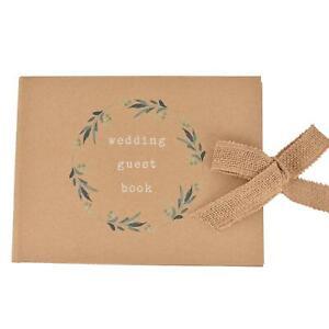 Wedding Love Story Photo Album / Guest Book - Hessian Ribbon Tie - Choose Item