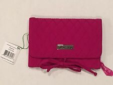 Vera Bradley All Wrapped Up Jewelry Roll in Magenta Pink Travel Jewelry Carrier