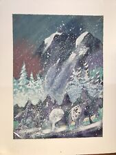 Earl Biss Storm On Thunder Mountain Limited Edition Serigraph