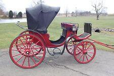 Horse Drawn Victoria Carriage Wagon Buggy Sleigh Cart Antique