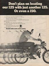 1970 Suzuki T-125 II Stinger - Vintage Motorcycle Ad