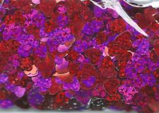 Valentines Day Party Scatters Confetti Heart Shape Red/Purple Metallic Foil 14g