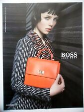 PUBLICITE-ADVERTISING :  HUGO BOSS Mode Femme - Sac  2015 Edie Campbell