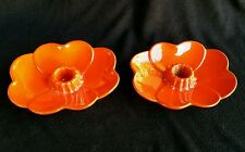 Pair Of Westwind Flame, Frankoma Tapered Candle Holders #300, Mid Century Modern
