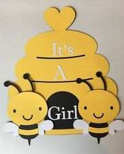 BeeHive and Bee It's a Girl sign. Great for Baby Showers
