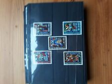 timbre luxembourg (th) lot 34   neufs   n803/7    caritas  vitreaux