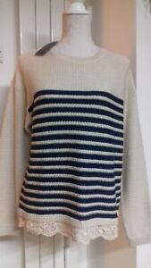 "100% COTTON BNWT JUMPER BY FAT FACE,SIZE 14.BUST 42"",LENGTH 25"". SLOPPY & CASUAL"