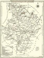 HUNTINGDONSHIRE. County map. Polling places. Coach roads. DUGDALE 1845 old