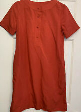 APC Linen Shift Dress Coral Size 38 w/ Side Pockets