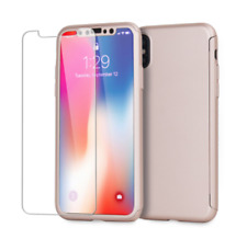 17eff11068 iPhone X/XS Case & Screen Protector - Olixar XTrio Full Cover - Rose Gold