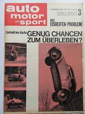 Auto Motor Sport 3/1964, Unfall im Auto, Das Eisreifen-Problem