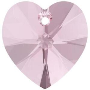 Swarovski® Crystal 10mm HEART Beads LT. Amethyst 4 Pcs. Top Drill US Seller❤ G21