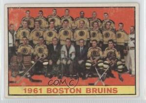 1961-62 Topps Boston Bruins Team #20